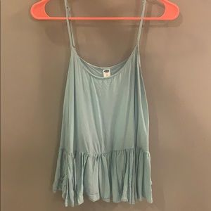 Old Navy Light Blue Tank with Ruffle Bottom